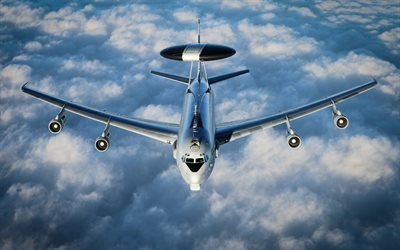 boeing e-3 sentry, militär-flugzeuge, die nato, awacs, american airborne early warning and control, boeing