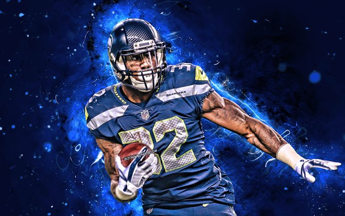 Download Wallpapers Chris Carson 4k Running Back Seattle Seahawks American Football Nfl Christopher Dewayne Carson National Football League Neon Lights Chris Carson Seattle Seahawks For Desktop Free Pictures For Desktop Free
