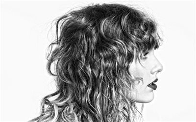 Taylor Swift, portrait, american singer, photoshoot, monochrome, american star, popular singers