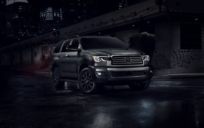 Toyota Sequoia Nightshade, 4k, street, 2020 cars, SUVs, luxury cars, 2020 Toyota Sequoia, japanese cars, Toyota