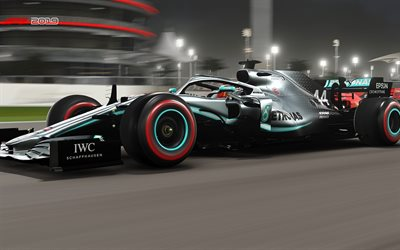 F1 2019, F1 game, poster, promo, Formula 1, Mercedes AMG F1 W10 EQ Power