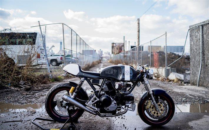 Download Wallpapers Ducati Scrambler Cafe Racer