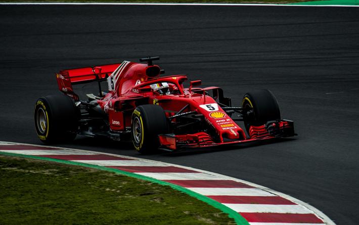 Download Wallpapers 4k Sebastian Vettel Raceway Ferrari
