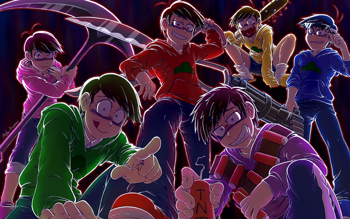 Download Wallpapers Osomatsu San Family Brothers Japanese
