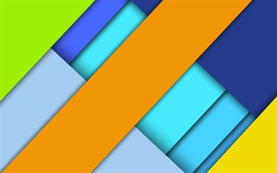 material design, android, multicolored abstraction, geometric background, colored rectangles