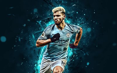 Download Wallpapers Sergio Aguero Close Up Manchester