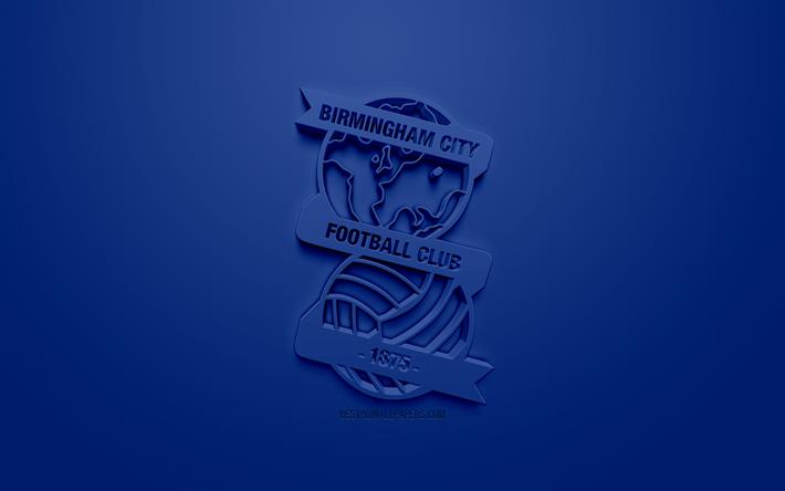 Download Wallpapers Birmingham City FC, Creative 3D Logo