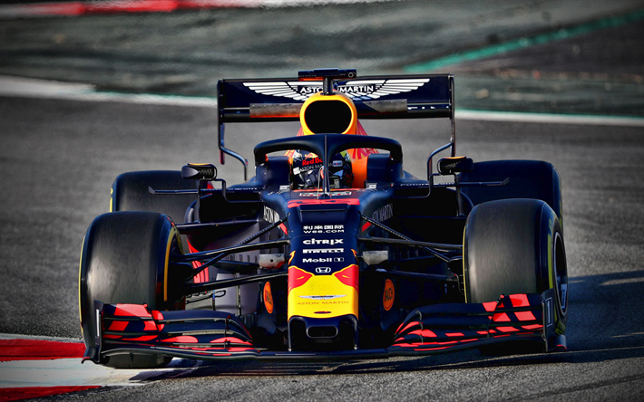 Download wallpapers Pierre Gasly, 4k, Red Bull RB15 ...