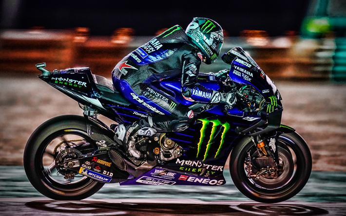 Download Wallpapers 4k Valentino Rossi Side View Motogp Raceway 2019 Bikes Yamaha Yzr M1 Valentino Rossi On Track Racing Bikes Monster Energy Yamaha Motogp Night Motogp 2019 Yamaha Hdr For Desktop Free Pictures