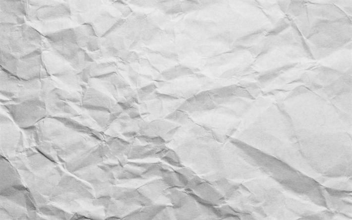 Download imagens textura de papel amassado, papel branco de fundo ...