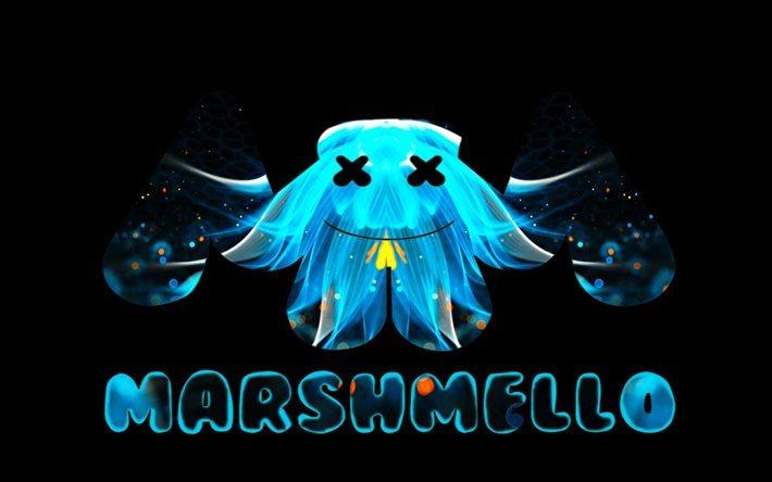 how to draw marshmello logo