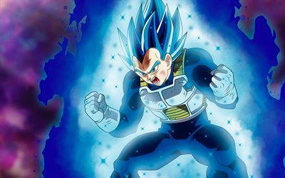 4k, Vegeta, arte, Dragon Ball Super, la magia, la manga, DBS, Dragon Ball