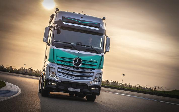 4k, A Mercedes Benz Actros Silverstar Edição, Estrada, 2018 Caminhão, Actros