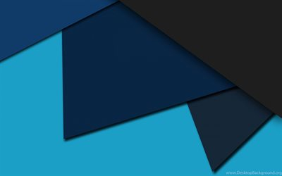 4k, polygons, android, gray and blue, lollipop, lines, geometric shapes, material design, creative, geometry, blue background