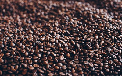 coffee grains texture, black coffee, coffee background, brown grains, aromatic coffee concepts