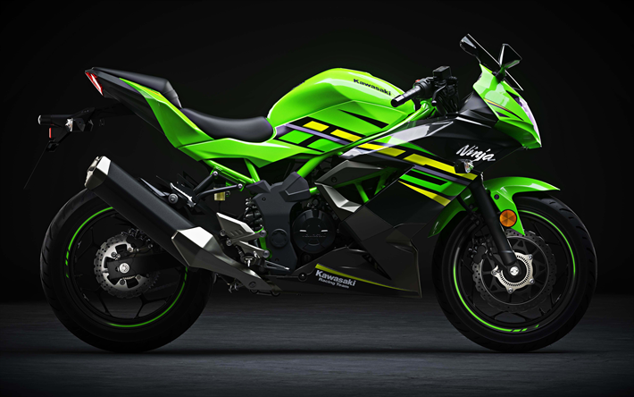 Download Wallpapers Kawasaki Ninja 125, 4k, Side View
