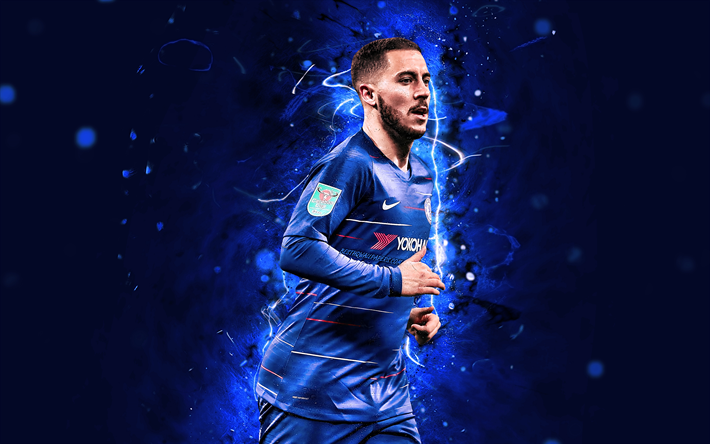 Download Wallpapers 4k, Eden Hazard, Close-up, Chelsea FC
