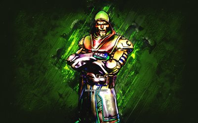 Fortnite Holo Foil Doctor Doom Skin, Fortnite, main characters, зеленые stone background, Holo Foil Doctor Doom, Fortnite skins, Holo Foil Doctor Doom Skin, Holo Foil Doctor Doom Fortnite, Fortnite characters