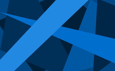 blue lines, creative, material design, geometric shapes, blue backgrounds, geometric art, background with lines