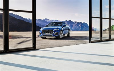 4k, Audi Q5 Sportback, crossover coupe, 2021 cars, luxury cars, 2021 Audi Q5 Sportback, german cars, Audi