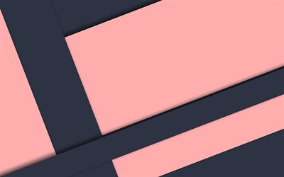 material design, black and pink, geometric shapes, lollipop, lines, geometry, creative, strips, pink backgrounds, abstract art