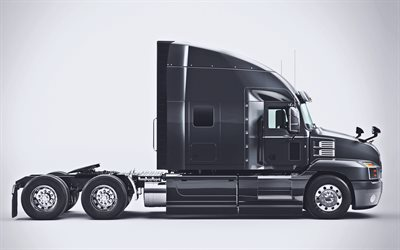 Mack Anthem, side view, 2020 trucks, cargo transport, 2020 Mack Anthem Stand Up Day Cab, black truck, LKW, Mack Trucks