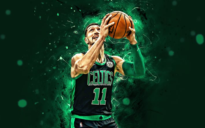 Download Wallpapers Enes Kanter 2020 4k Boston Celtics Nba Basketball Green Neon Lights Usa Enes Kanter Boston Celtics Creative Enes Kanter 4k For Desktop Free Pictures For Desktop Free