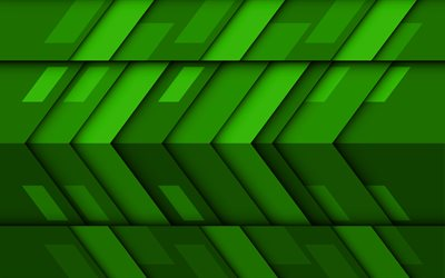 green arrows, 4k, material design, creative, geometric shapes, lollipop, arrows, green material design, strips, geometry, green backgrounds