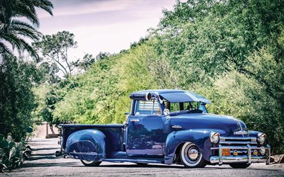 Chevrolet 3100, retro pickup truck, vintage cars, tuning chevy 3100, american cars, Chevrolet