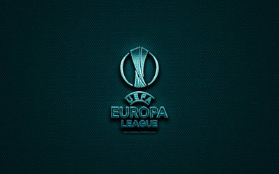 download wallpapers uefa europa league glitter logo creative blue metal background uefa europa league logo football leagues uefa europa league for desktop free pictures for desktop free download wallpapers uefa europa league