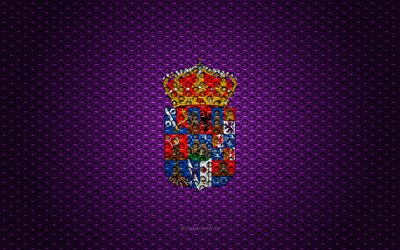 Flag of Guadalajara, 4k, creative art, metal mesh texture, Guadalajara flag, national symbol, provinces of Spain, Guadalajara, Spain, Europe