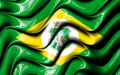 Ceara flag, 4k, States of Brazil, administrative districts, Flag of Ceara, 3D art, Ceara, brazilian states, Ceara 3D flag, Brazil, South America