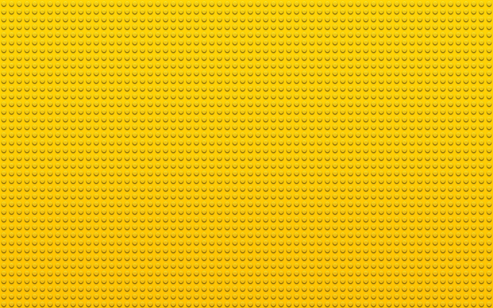 Download Wallpapers Yellow Lego Texture Macro Yellow Dots Background Lego Yellow Backgrounds Lego Textures For Desktop Free Pictures For Desktop Free