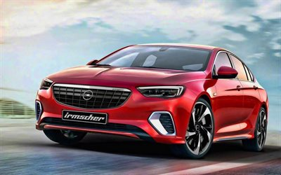 Irmscher, tuning, Opel Insignia, road, 2019 cars, german cars, 2019 Opel Insignia, red Insignia, Opel