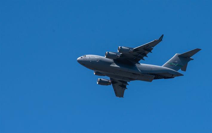 ダウンロード画像 ボーイングC-17Globemaster III, 4k, 軍事輸送機 ...