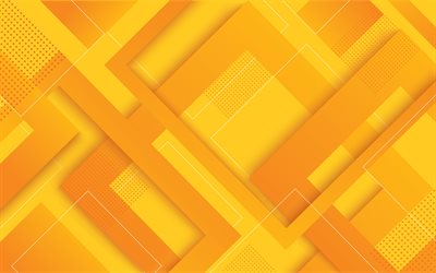 yellow material design, 4k, geometric shapes, lollipop, yellow lines, geometry, creative, strips, yellow backgrounds, abstract art, material design
