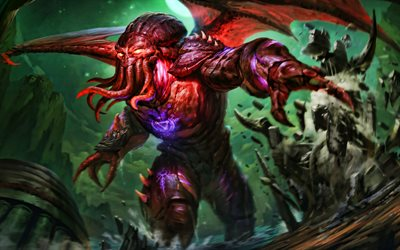 Cthulhu, 4k, monster, Smite God, 2020 games, Smite, MOBA, Smite characters, Cthulhu Smite
