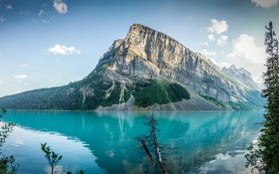 glacial lake, Lake Louise, a mountain lake, mountain, Alberta, Banff, Canada