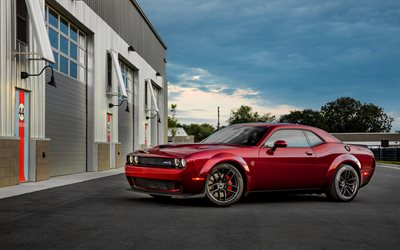 american cars, Dodge Challenger SRT Hellcat, 2017 cars, supercars, Dodge