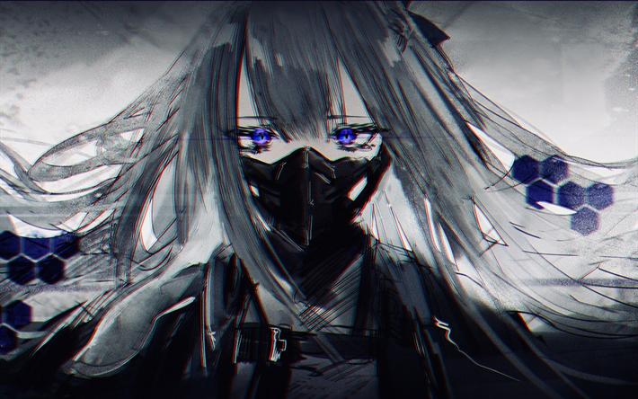 Download wallpapers Ak-12, mask, manga, art, Girls ...
