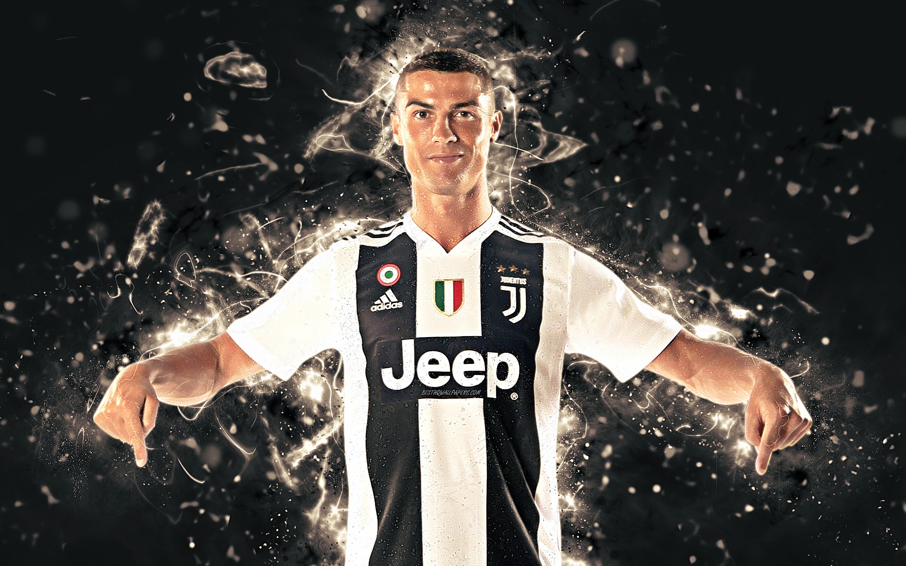 Download Wallpapers Cristiano Ronaldo, 4k, CR7 Juve