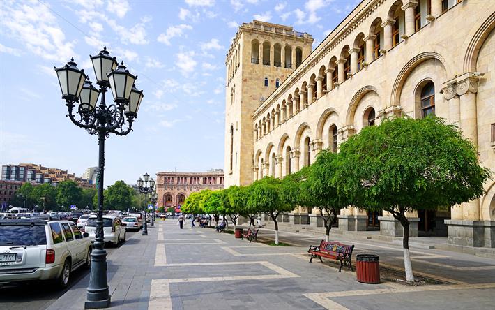 Herunterladen Hintergrundbild Jerewan Hauptstadt Von Armenien Stadt Panorama Strasse Strassenlaternen Armenien Fur Desktop Kostenlos Hintergrundbilder Fur Ihren Desktop Kostenlos