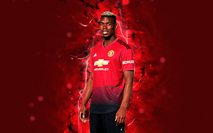 Download Wallpapers Paul Pogba, 4k, Season 2018-2019