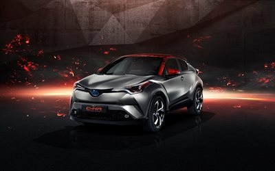 4k, Toyota C-HR Hy-Power Concept, 2017 cars, crossovers, Toyota C-HR, japanese cars, Toyota