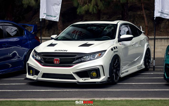 Honda Civic Tuning >> Lataa Kuva Seibon Carbon Tuning 4k Honda Civic Renkaan R