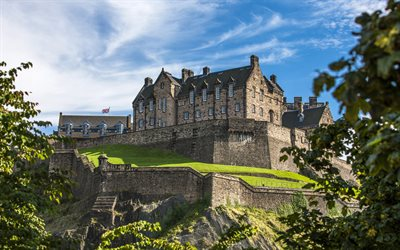 Edinburgh Castle, Ancient fortress, Landmark, Edinburgh, Scotland