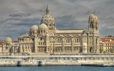 Marseille Cathedral, Roman Catholic cathedral, Marseille, Landmark, Cathedral, France