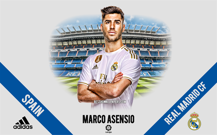 Download wallpapers Marco Asensio, Real Madrid, portrait ...