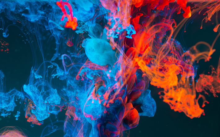 Download Wallpapers 4k Colorful Smoke Darkness Macro