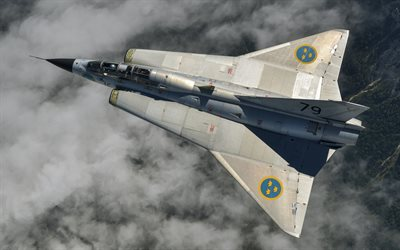 Saab 35 Draken, swedish supersonic fighter, Swedish military aircraft, Sweden, Swedish Air Force, Saab